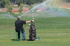 Driving Range. Rest from driving at Woods Valley Championship Golf Course Stock Photos