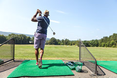 Driving Range Gold Practice Royalty Free Stock Photos