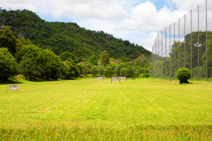 Driving range on the golf course Stock Photography