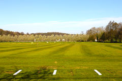 Driving range. Golf course in Saint Saens, France Royalty Free Stock Photography