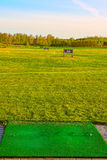 Driving range on golf field Stock Images