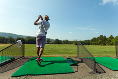 Driving Range Golf Swing Stock Photos