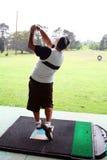 Driving range golfer Royalty Free Stock Photo