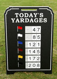 Driving Range Information Royalty Free Stock Photo