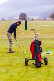 Driving range practice Royalty Free Stock Photography
