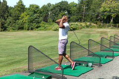 Driving Range Swing Practice Royalty Free Stock Images