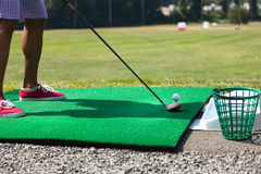 Driving Range Tee Up Royalty Free Stock Photography