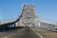 Driving on Richmond - San Rafael bridge, San Francisco bay, California Royalty Free Stock Image