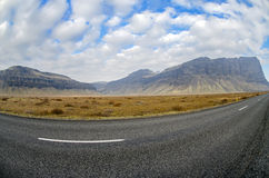 Driving Ring road Iceland Royalty Free Stock Image