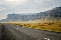 Driving Ring road Iceland Royalty Free Stock Photo