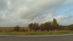 Driving Road along country fields. Driving Road along country rural fields stock footage
