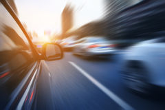 Driving on the road Royalty Free Stock Photo