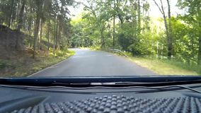 Driving the road stock video footage
