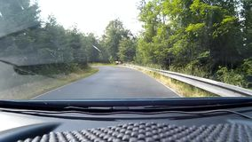 Driving the road Royalty Free Stock Photo