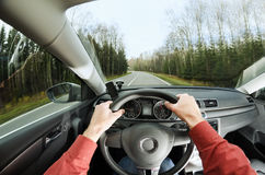 Driving on road Royalty Free Stock Images