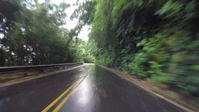 POV car driving in Maui Hawaii. Driving on Road to Hana in Maui Hawaii stock video