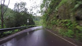 POV car driving in Maui Hawaii. Driving on Road to Hana in Maui Hawaii stock footage