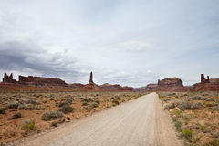 Driving on the road to Monument Valley Royalty Free Stock Photo