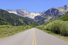 Driving in the Rocky Mountains, USA Royalty Free Stock Image