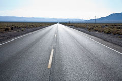 Driving on Route 190 to Death Valley Royalty Free Stock Images