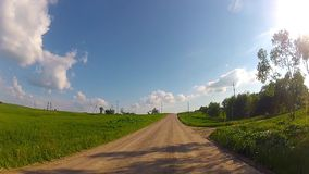 Driving on rural road stock footage
