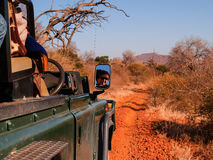 Driving on safari through stunning South African landscape Royalty Free Stock Photography