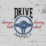 Driving Safely Poster Royalty Free Stock Photo