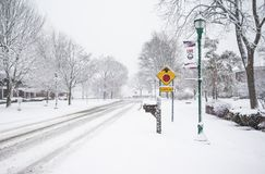 Winter Driving Safety Royalty Free Stock Photos