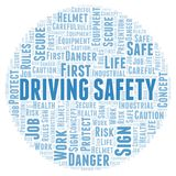 Driving Safety word cloud. Great graphic illustration for your needs, beautiful and colorful royalty free illustration