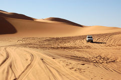 Driving through the Sahara Royalty Free Stock Photos