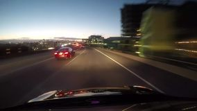 Driving into San Francisco stock footage