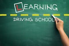 Driving school chalkboard Royalty Free Stock Image