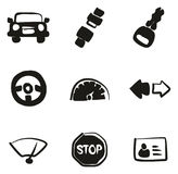 Driving School Icons Freehand Fill Royalty Free Stock Image