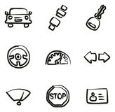 Driving School Icons Freehand Royalty Free Stock Image