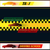 Driving school and taxi Royalty Free Stock Images