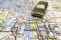 Driving in Seattle Royalty Free Stock Photography