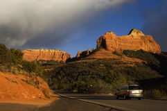 Driving in Sedona Royalty Free Stock Photo