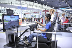 Driving simulation Stock Photography