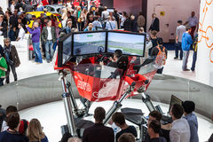 Driving Simulator at the IAA 2015 Royalty Free Stock Photography
