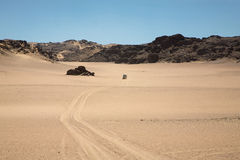Driving in the Skeleton Coast Royalty Free Stock Images