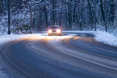 Driving in the snow Stock Image