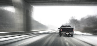 Driving in snow Royalty Free Stock Images