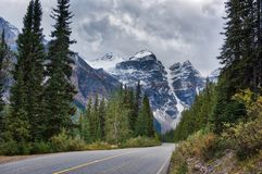Canadian Rockies snowing Stock Images