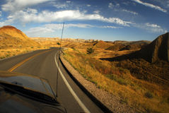 Driving in south dakota. Pov from car driving in south dakota Stock Images