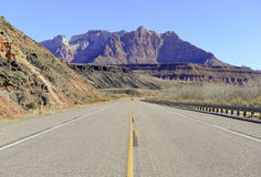 Driving in the Southwestern USA, America Royalty Free Stock Photo