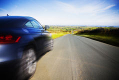 Driving at speed Royalty Free Stock Photo