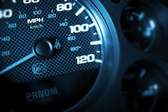Driving Speed Control Stock Image