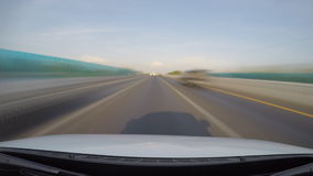 Driving speed on highway (fast speed) stock video footage