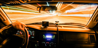 Driving at speed of light Stock Image