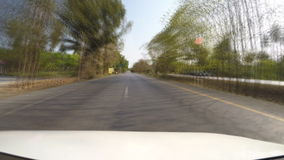 Driving speed on the road countryside stock video footage